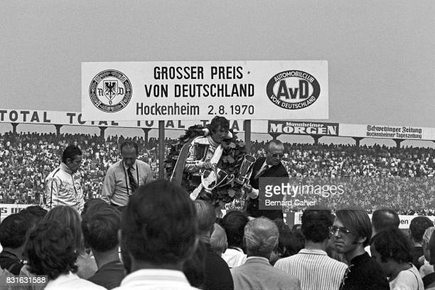 Jochen Rindt Jacky Ickx Prince Metternich Grand Prix of Germany Nurburgring 02 August 1970