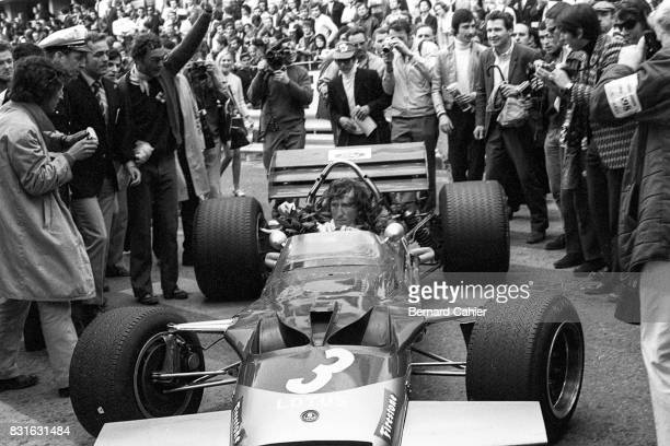 Jochen Rindt LotusFord 49B Grand Prix of Monaco Monaco 10 May 1970 A victorious but tired Jochen Rindt at the end of the Monaco Grand Prix