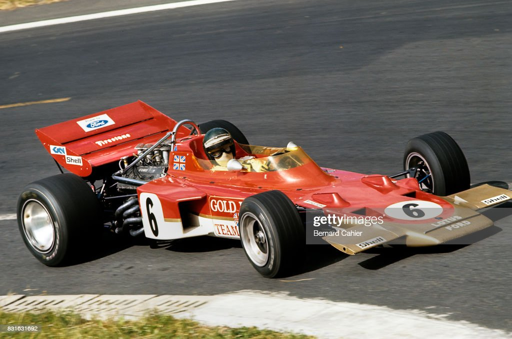 Jochen Rindt, Lotus-Ford 72C, Grand Prix of France, Circuit de Charade, Clermont-Ferrand, 05 July 1970.
