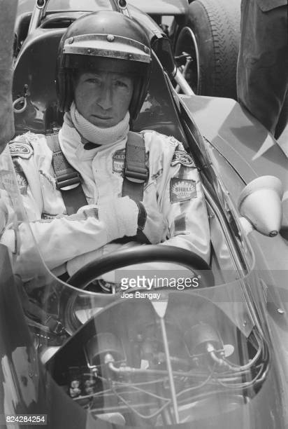 Jochen Rindt sitting in his car a Lotus 72 during the British Grand Prix held at Brands Hatch on 18th July 1970