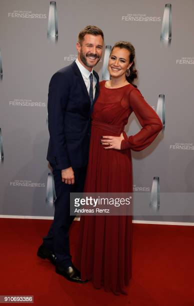 Jochen Schropp and Christine Henning attend the German Television Award at Palladium on January 26 2018 in Cologne Germany