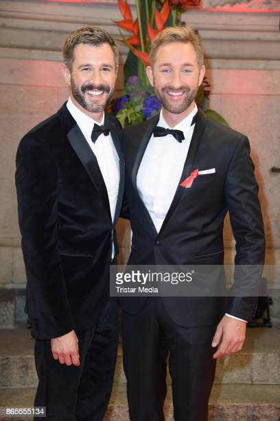 Jochen Schropp and Daniel Boschmann attend the Artists Against Aids Gala at Stage Theater des Westens on October 23 2017 in Berlin Germany