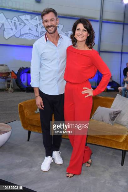 Jochen Schropp and Marlene Lufen attend the first live show of 'Promi Big Brother 2018' at MMC Studios on August 17 2018 in Cologne Germany