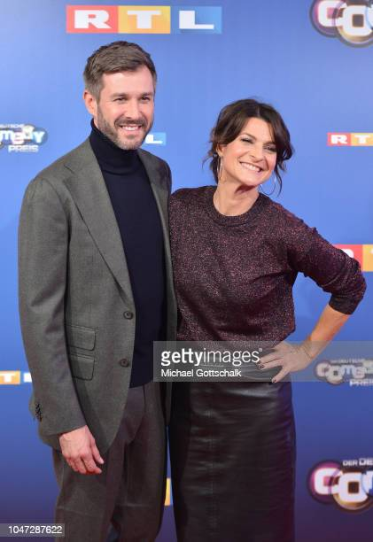 Jochen Schropp and Marlene Lufen attend the red carpet at the 22nd Annual German Comedy Awards at Studio in Koeln Muehlheim on October 7 2018 in...