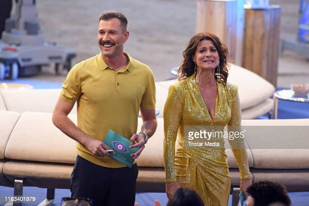 Jochen Schropp and Marlene Lufen during the Promi Big Brother final at MMC Studios on August 23 2019 in Cologne Germany