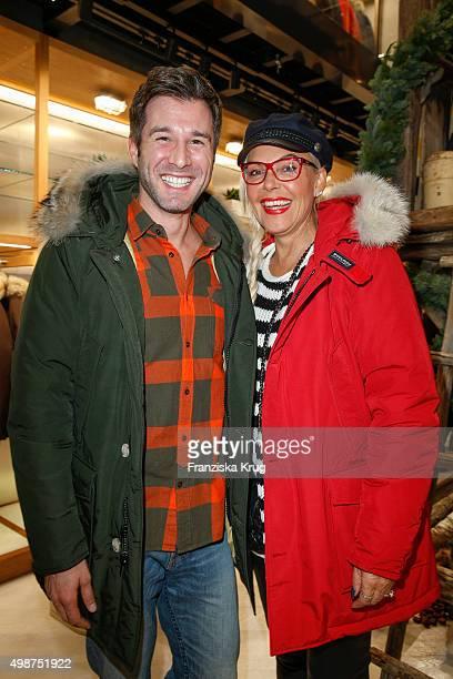 Jochen Schropp and Natascha Ochsenknecht attend the Woolrich Store Opening on November 25 2015 in Berlin Germany