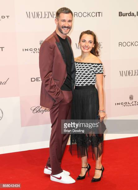 Jochen Schropp and Paula Schramm arrive at Tribute To Bambi at Berlin Station on October 5 2017 in Berlin Germany