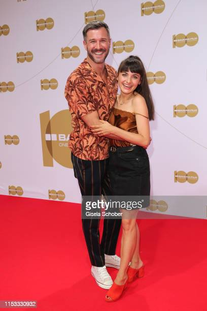 Jochen Schropp and Paula Schramm during the Bavaria Film Reception One Hundred Years in Motion on the occasion of the 100th anniversary of the...
