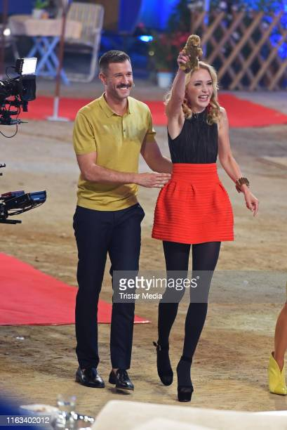 Jochen Schropp and Theresia Fischer during the Promi Big Brother final at MMC Studios on August 23 2019 in Cologne Germany
