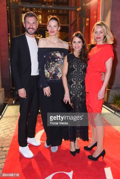 Jochen Schropp Annique Delphine Birthe Wolter and Simone Hanselmann attend the Opening Night By GALA UFA on February 9 2017 in Berlin Germany