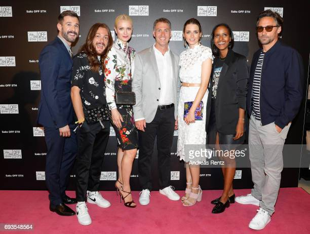 Jochen Schropp Riccardo Simonetti Franziska Knuppe Wayne Drummond Eva Padberg Sara Nuru and Benjamin Sadler attend the preopening party 'Saks OFF...