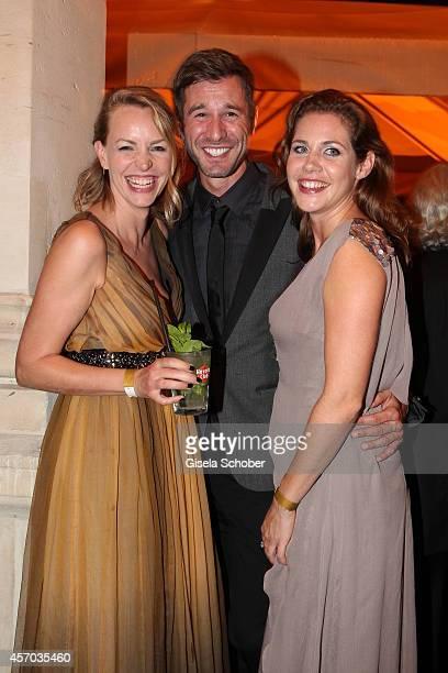 Jochen Schropp Simone Hanselmann Felicitas Woll attend the Hessian Film And Cinema Award 2014 on October 10 2014 at Alte Oper in Frankfurt am Main...