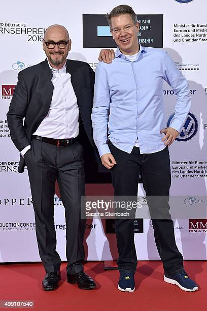 Jochen Schweizer and Frank Thelen attend the German television award by the Deutsche Akademie fuer Fernsehen at Museum Ludwig on November 28 2015 in...