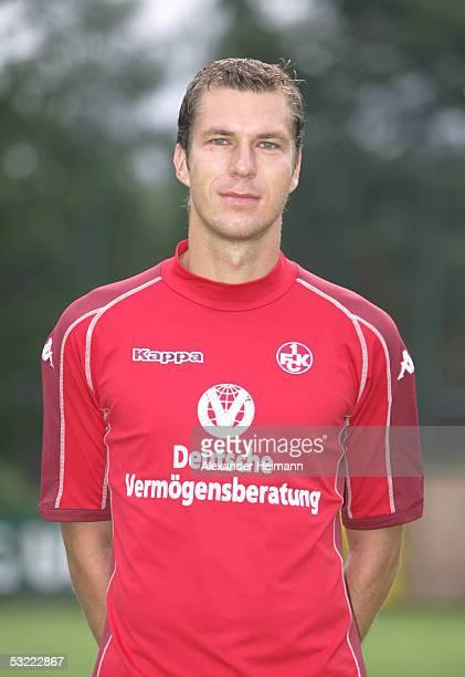 Jochen Seitz looks in the camera during the team presentation of 1FC Kaiserslautern for the Bundesliga season 2005 2006 on July 10 2005 in...