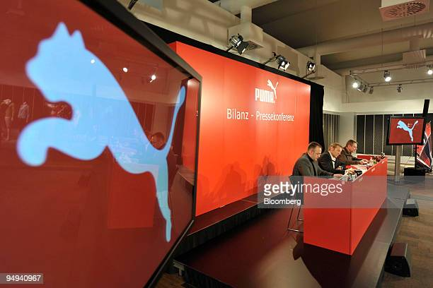 Jochen Zeitz, chief executive officer of Puma AG, speaks at the company's news conference in Nuernberg, Germany, on Wednesday, Feb. 18, 2009. Puma...