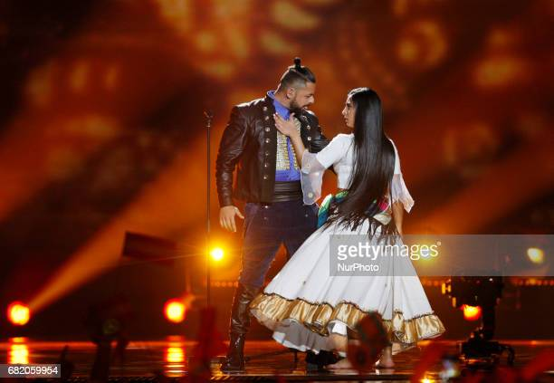 Joci Papai from Hungary performs with the song quotOrigoquot during the Second SemiFinal of the Eurovision Song Contest in Kiev Ukraine 11 May 2017...