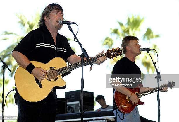 Jock Bartley and Steven Weinmeister of Firefall perform as part of the Stagecoach Music Festival at the Empire Polo Fields on April 25 2010 in Indio...
