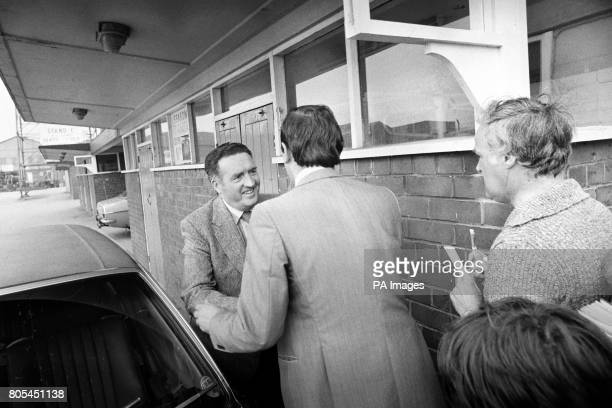 Jock Stein is greeted at Elland Road after being appointed the new Leeds United Manager