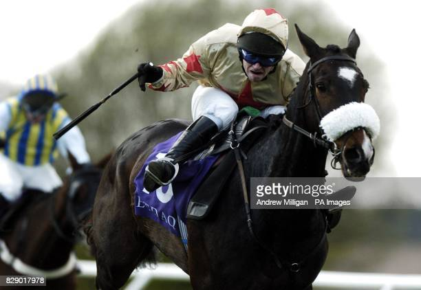 Jockey Alan Dempsey on Behaving Badly winning the Betdaq Highland National at Perth race course