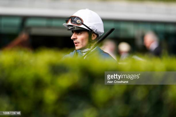Jockey Andrea Atzeni at Ascot Racecourse on July 28 2018 in Ascot United Kingdom