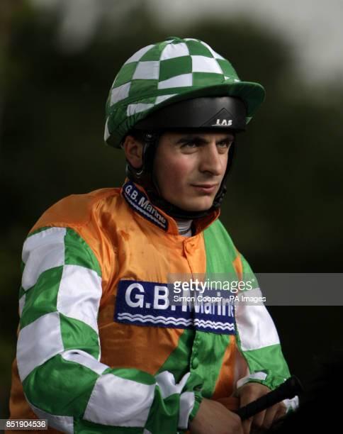 Jockey Andrea Atzeni at Nottingham Racecourse
