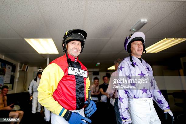 Jockey Andrew Thornton leaves the weighing room on his last days race riding as he retires after the meeting having ridden over 1000 winners during...