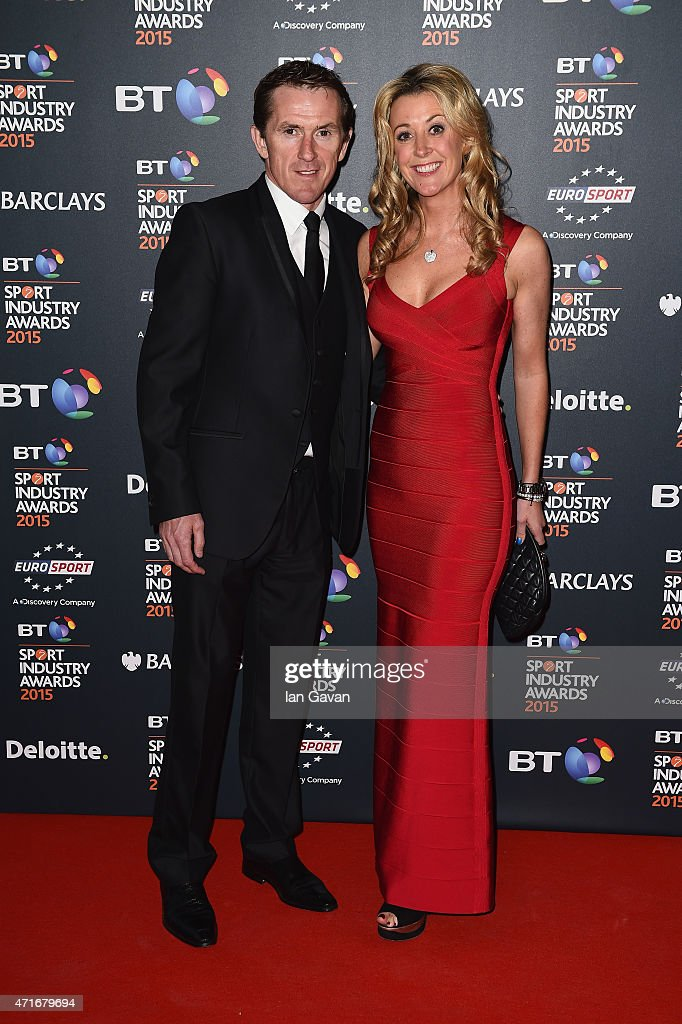 Jockey AP McCoy and wife Chanelle pose on the red carpet at the BT Sport Industry Awards 2015 at Battersea Evolution on April 30, 2015 in London, England. The BT Sport Industry Awards is the most prestigious commercial sports awards ceremony in Europe, where over 1750 of the industry's key decision-makers mix with high profile sporting celebrities for the most important networking occasion in the sport business calendar.