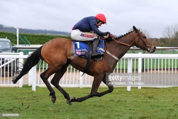 Jockey Barry Geraghty on Bobs Worth on day four of the 2013 Cheltenham Festival held at Cheltenham Racecourse