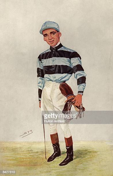 Jockey Bernard Dillon in his silks A print after Spy from Vanity Fair pub 1906