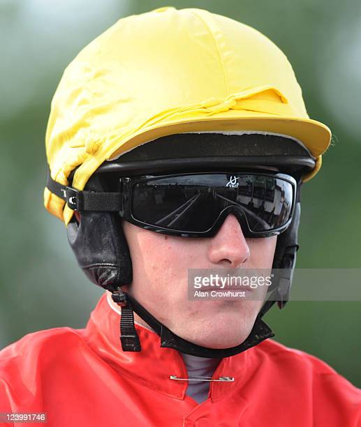 Jockey Brian Hughes at Uttoxeter racecourse on September 07 2011 in Uttoxeter England