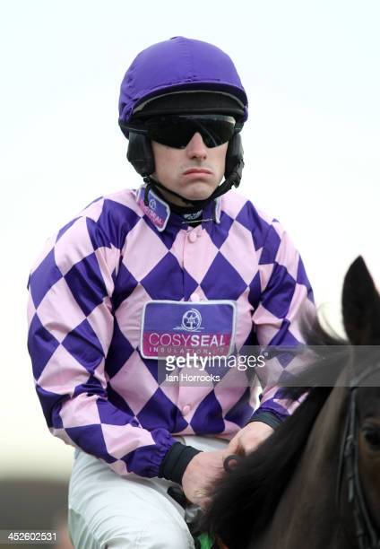 Jockey Brian Hughes during the Fighting Fifth Race Meeting at Gosforth Park Race Course on November 30 2013 in Newcastle upon Tyne England