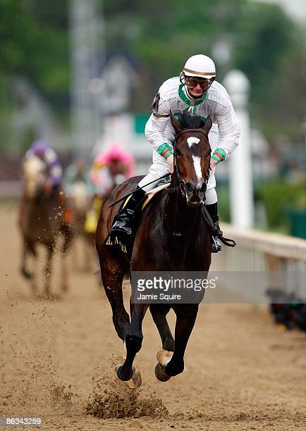 Jockey Calvin Boral rides Rachel Alexandra to victory during the 135th running of the Kentucky Oaks on May 1 2009 at Churchill Downs in Louisville...