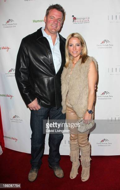 Jockey Chantal Sutherland and Dan Kruse attend the Kentucky Derby Prelude Party at The London West Hollywood on January 10 2013 in West Hollywood...