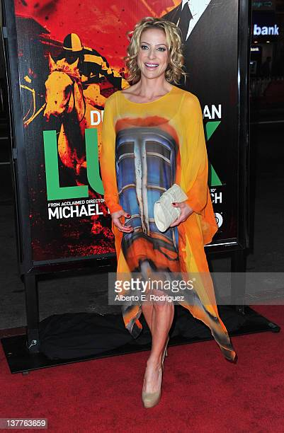 Jockey Chantal Sutherland arrives to the premiere of HBO's new series Luck at Grauman's Chinese Theatre on January 25 2012 in Hollywood California