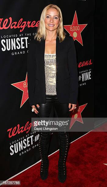 Jockey Chantal Sutherland attends the opening night of Walgreens' new flagship store in Los Angeles on November 30 2012 in Hollywood California