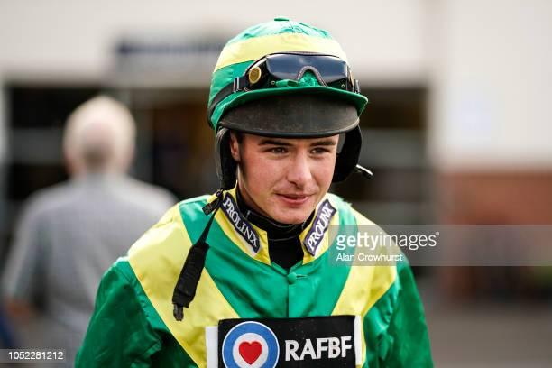 Jockey Charlie Deutsch on his return to race riding at Huntingdon Racecourse on October 16 2018 in Huntingdon United Kingdom