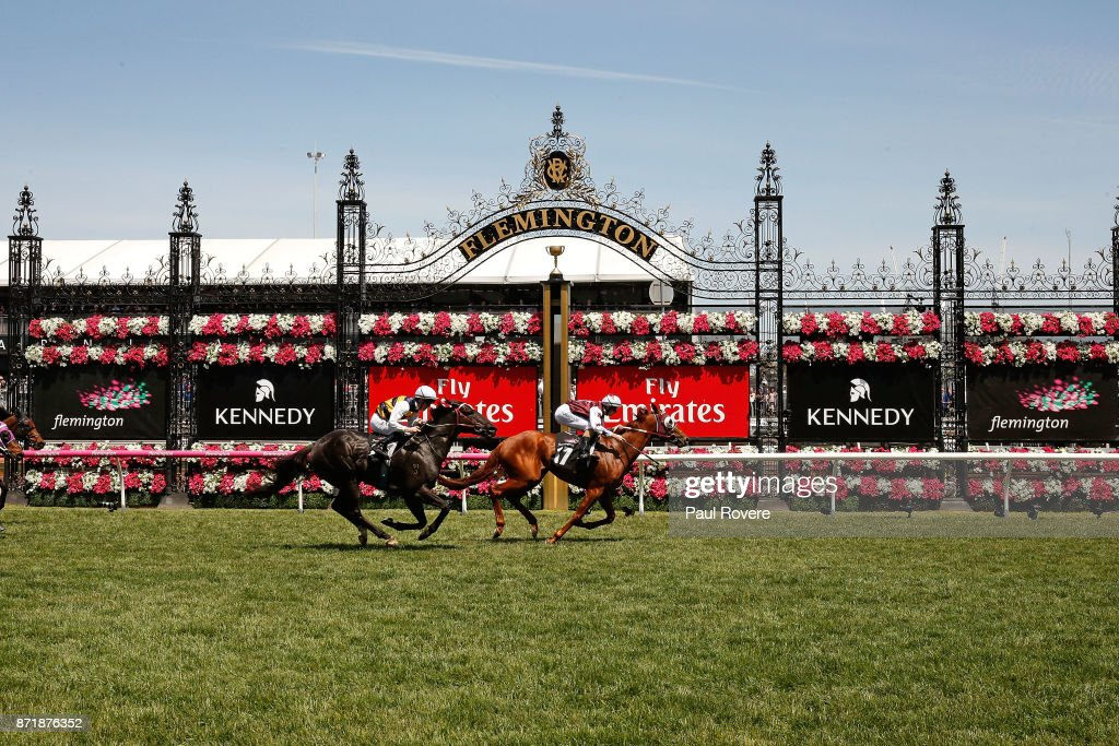 Jockey Damian Lane rides Another Coldie to win race 4, the Melbourne Cup Carnival Country Final on 2017 Oaks Day at Flemington Racecourse on November 9, 2017 in Melbourne, Australia.
