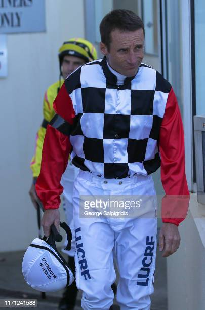 Jockey Damien Oliver during Melbourne Racing Memsie Stakes Day at Caulfield Racecourse on August 31 2019 in Melbourne Australia