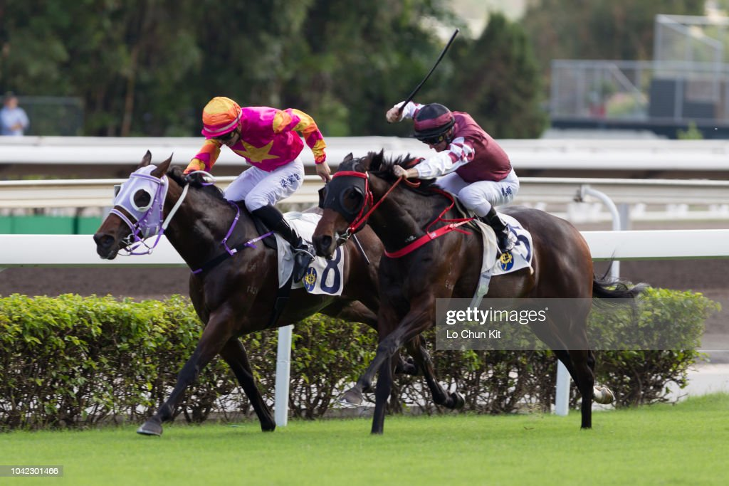 Jockey Derek Leung Ka-chun riding A Beautiful wins Race 5