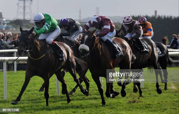 Jockey Fran Berry rides Curley Bill to victory in the Guinness Handicap during day five of the 2013 Galway Summer Festival at Galway Racecourse...