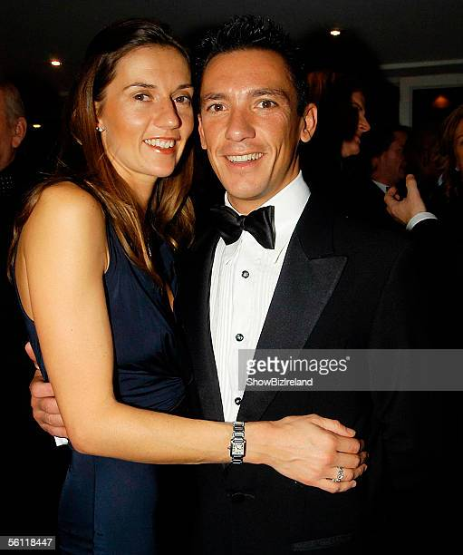 Jockey Frankie Dettori and wife Catherine attend The Marie Keating Foundation's 5th Annual Pink Ribbon Ball at the Burlington Hotel on November 5...