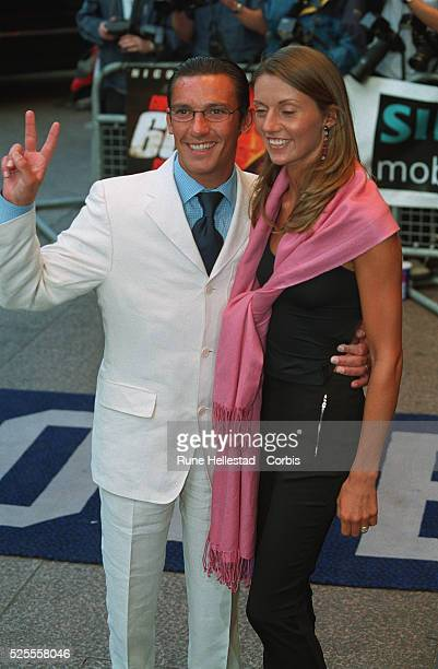 Jockey Frankie Dettori arrives at the European Premiere for Gone In 60 Seconds with his wife Catherine