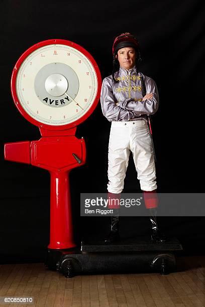 Jockey Frankie Dettori is photographed on January 17, 2016 in Epsom, England.