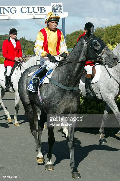 Jockey Gary Grylls after riding Tina Temple to victory in Race 7 the Montana Wines Handicap at the Ellerslie Easter Festival horse racing Auckland...