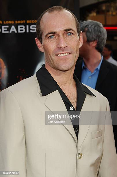 Jockey Gary Stevens during Seabiscuit Los Angeles Premiere at Mann's Bruin in Los Angeles California United States