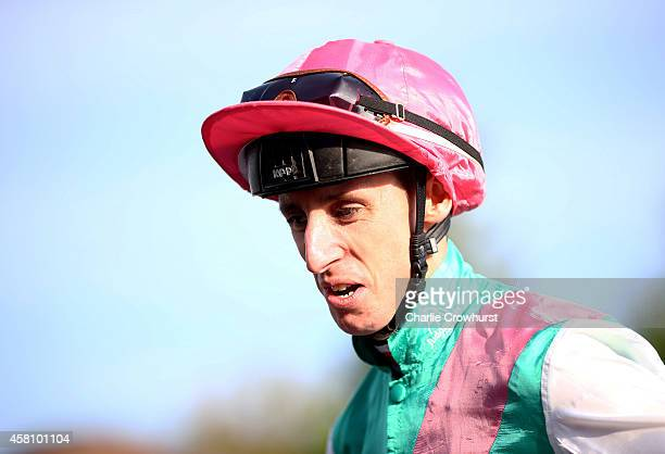 Jockey George Baker at Lingfield racecourse on October 30 2014 in Lingfield England