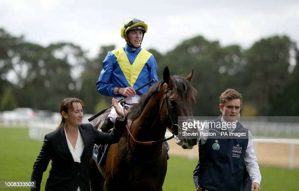 Jockey James Doyle after winnng the King George VI And Queen Elizabeth Stakes on