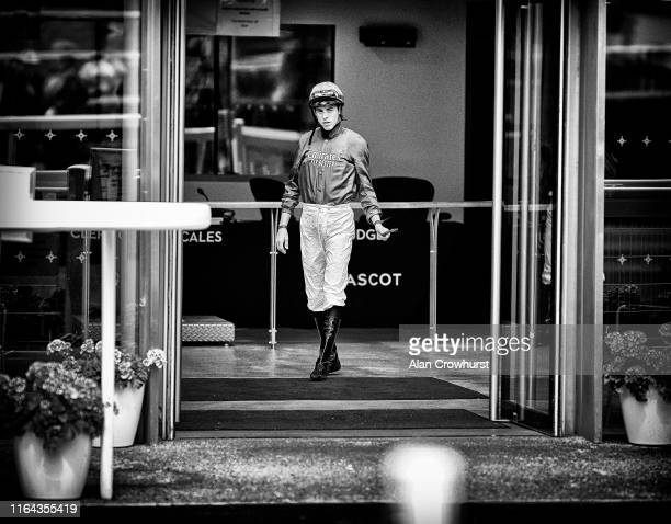 Jockey James Doyle leaves the weighing room at Ascot Racecourse on July 26 2019 in Ascot England