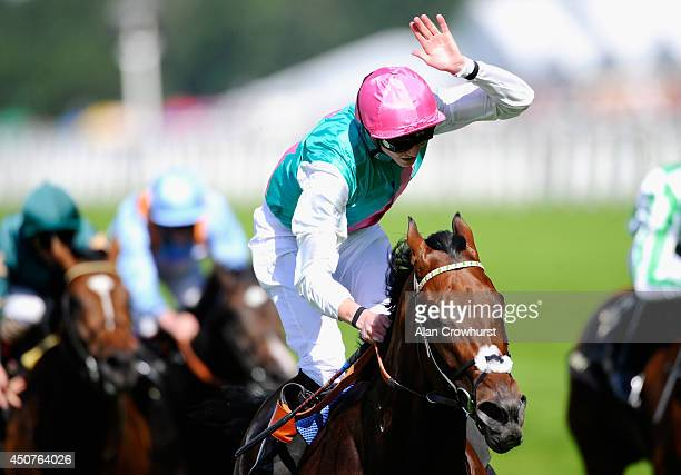 Jockey James Doyle riding Kingman wins the St James's Palace Stakes during day one of Royal Ascot at Ascot Racecourse on June 17 2014 in Ascot England