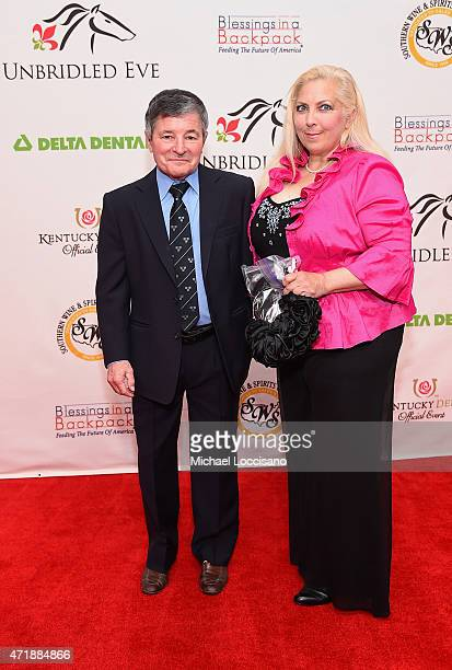 Jockey Jean Cruguet and LuAnne Burton attends the 141st Kentucky Derby Unbridled Eve Gala at Galt House Hotel Suites on May 1 2015 in Louisville...